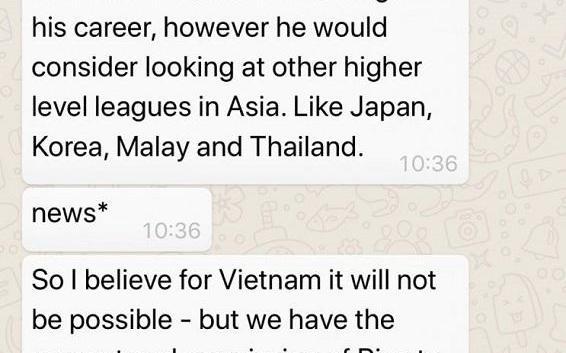 Con trai Rivaldo chê V.League dưới đẳng cấp Thai.League