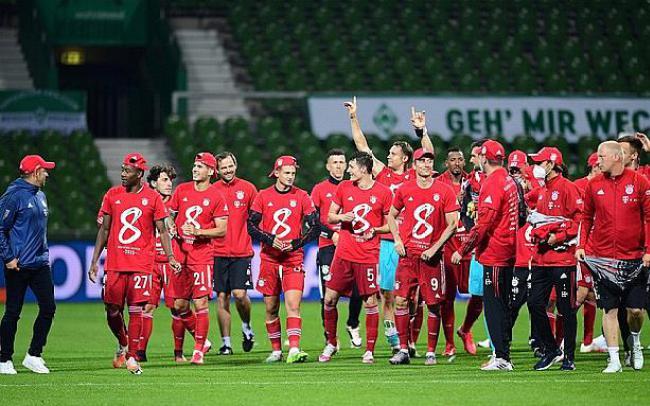 Đánh bại Bremen, Bayern đăng quang ngôi vô địch lần thứ 8 liên tiếp