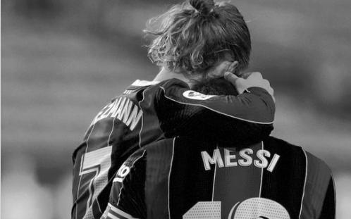 Griezmann phản ứng ngắn gọn về tin đồn bị Messi xử tệ