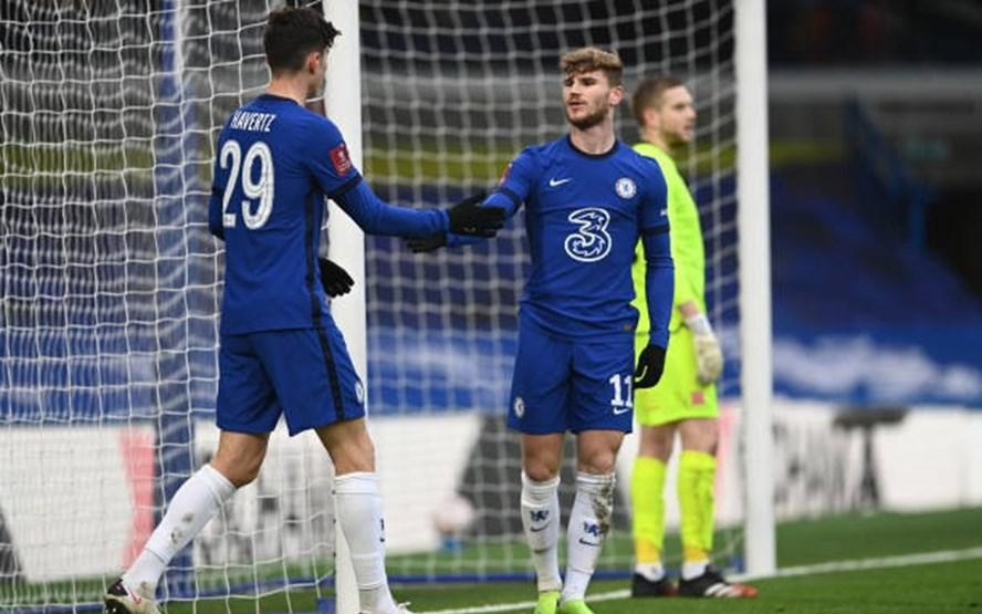 Werner và Havertz cùng lập công, Chelsea dễ dàng lọt vào vòng 4 FA Cup