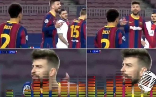 Sốc: Pique và Griezmann chửi mắng nhau kịch liệt trong trận Barcelona thua PSG 1-4
