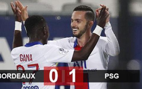 Kết quả Bordeaux 0-1 PSG: Chiến thắng nhọc nhằn