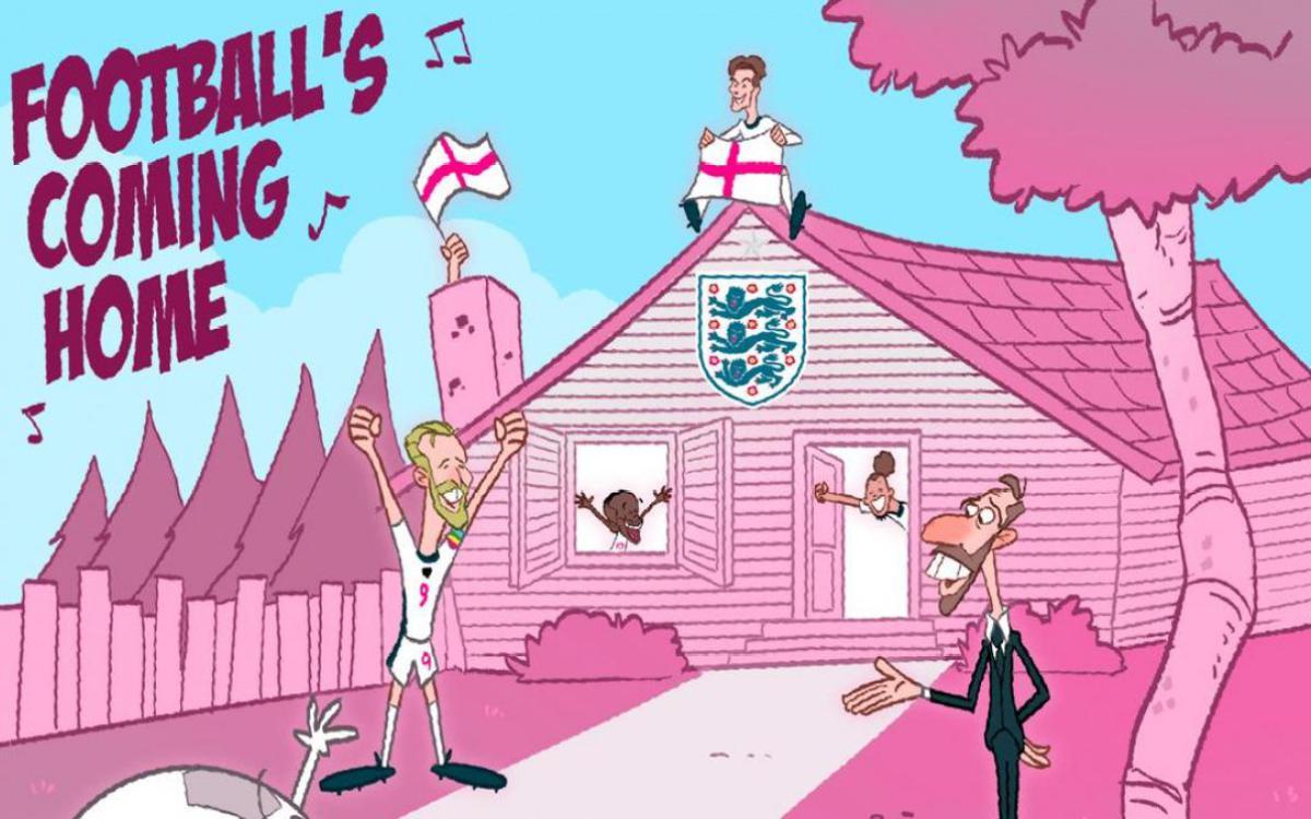 Biếm họa 24h: ĐT Anh sắp sửa mang bóng đá trở về nhà